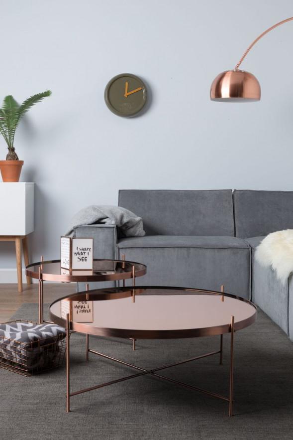Beistelltische In Roségold  Wohnzimmer Inspiration von Rosegold Deko Wohnzimmer Bild