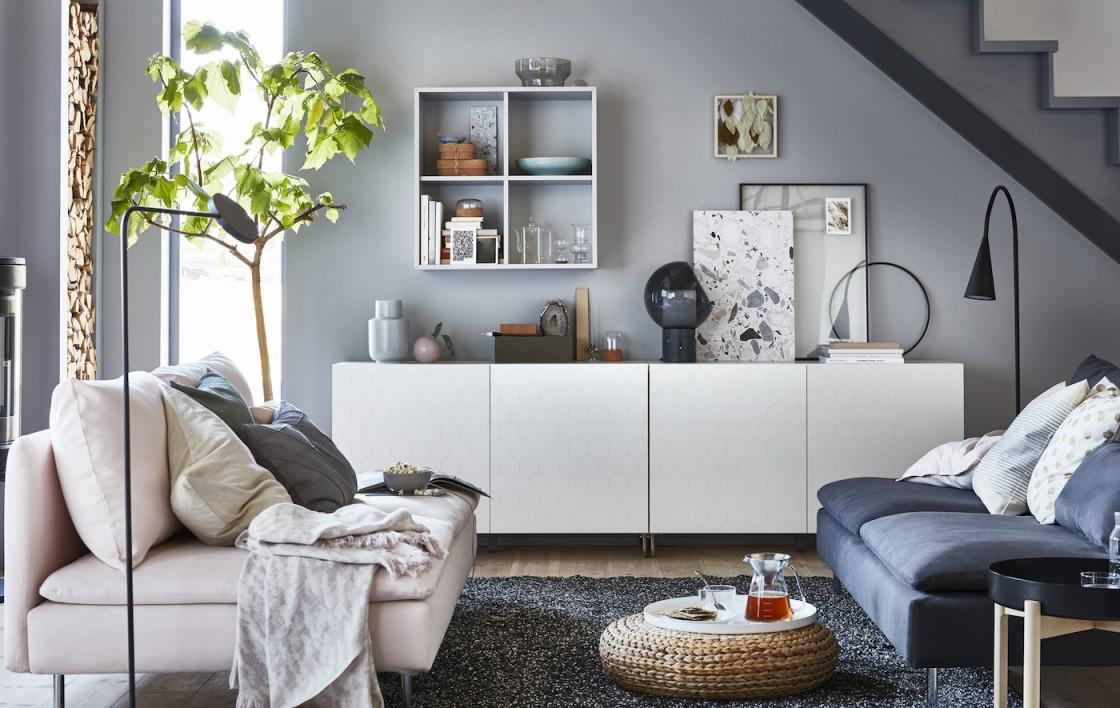 Besta Stauraumideen Mit Stil  Ikea Deutschland von Stauraum Ideen Wohnzimmer Bild