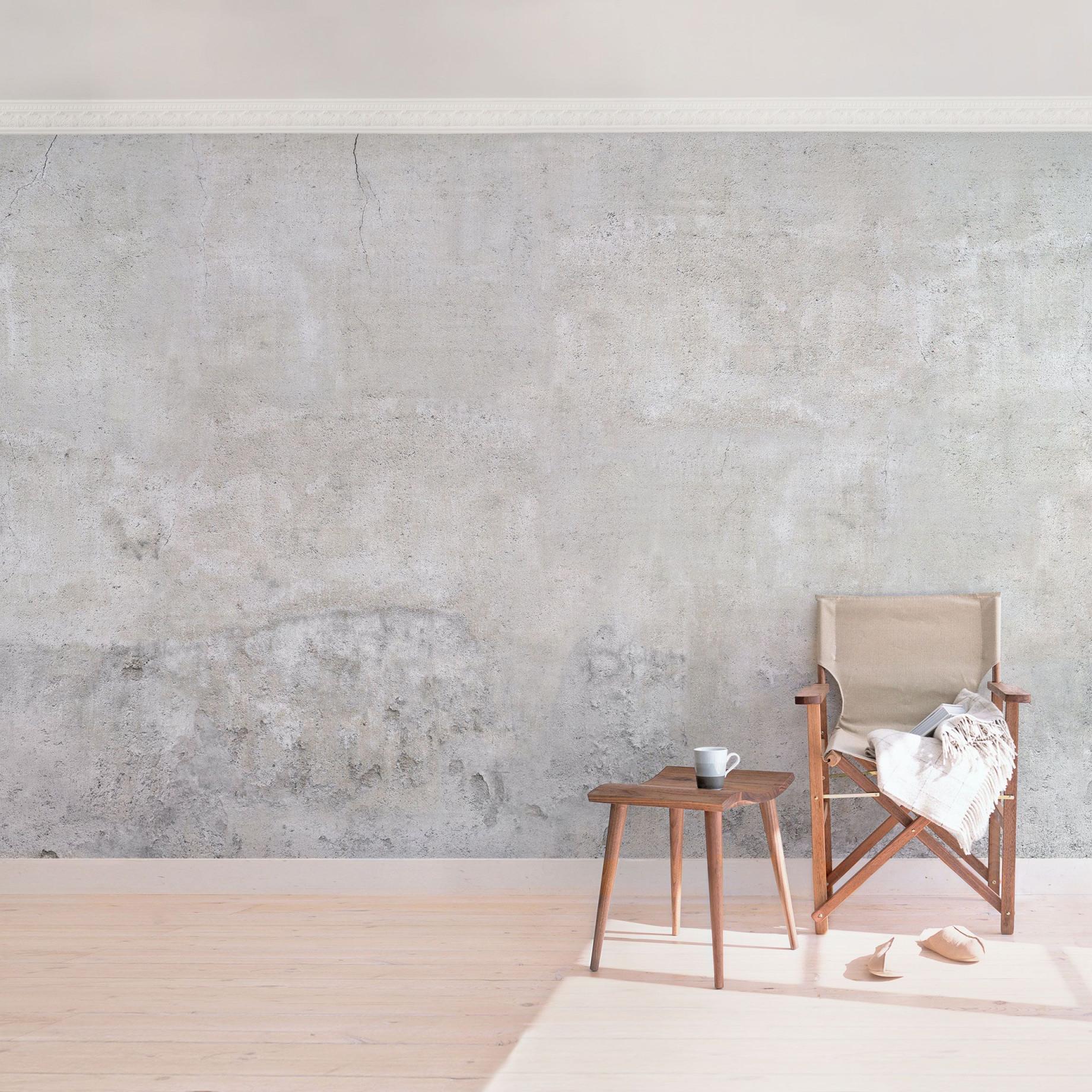Betontapete  Shabby Betonoptik Tapete  Vliestapete Breit von Tapeten Design Wohnzimmer Bild
