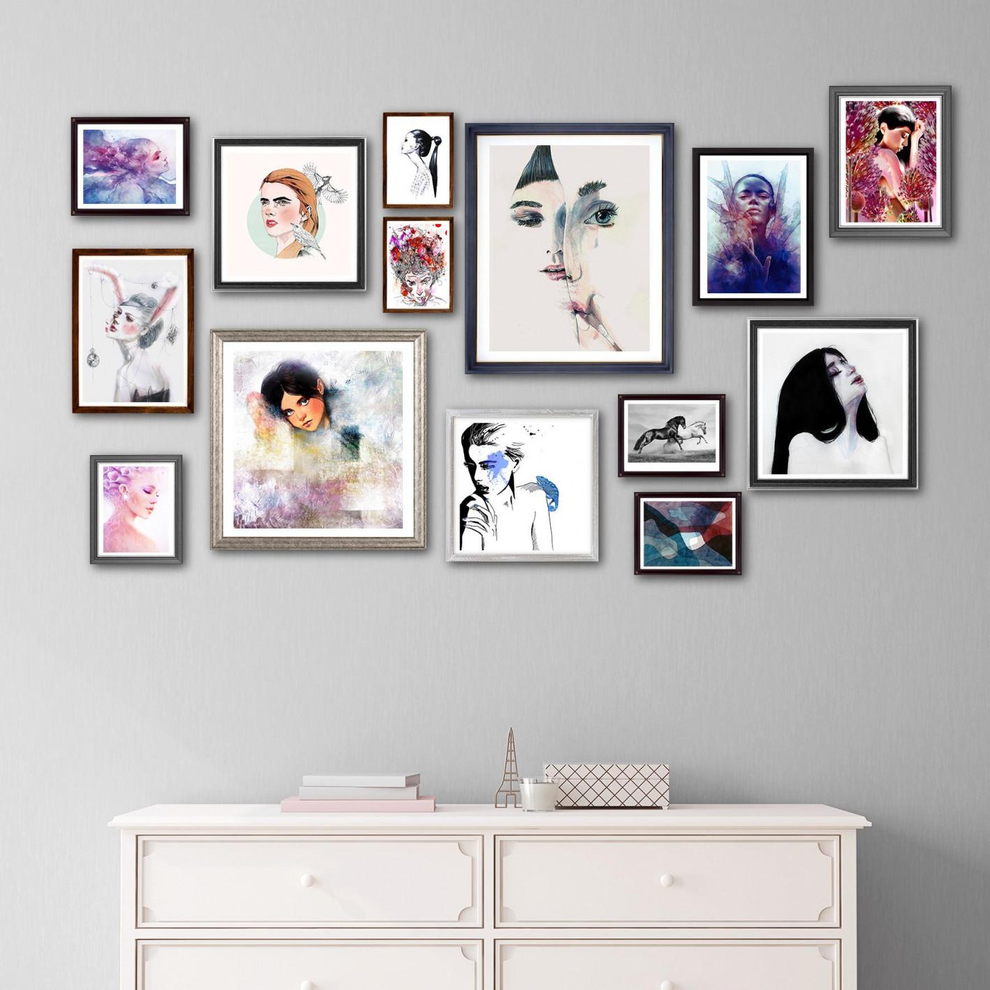Bild Aufhängen • Bilder  Ideen • Couch von Bilder Zum Aufhängen Im Wohnzimmer Bild