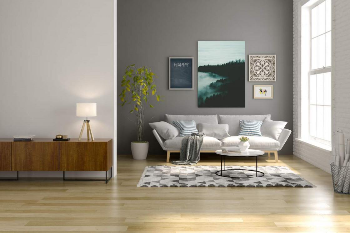 Bild Über Dem Sofa Hängen Die Richtige Höhe Bildgröße Und von Bilder Anordnen Wohnzimmer Bild
