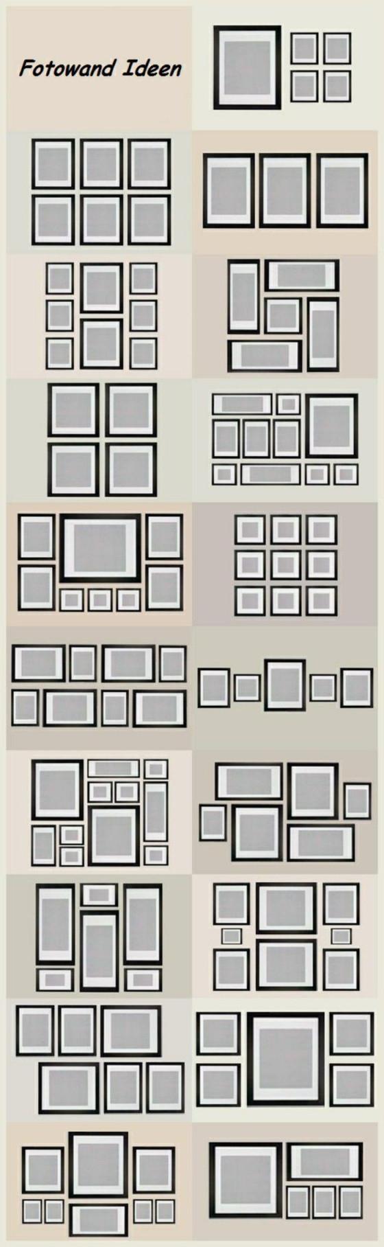 Bilder An Der Wand Anordnen  Wohnen  Fotowand Selber von Bilder Anordnen Wohnzimmer Photo