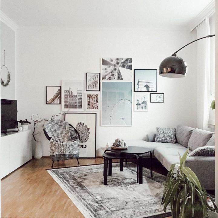 Bilder Aufhängen  Die Richtige Anordnung  Wohnzimmer von Bilder Im Wohnzimmer Aufhängen Bild