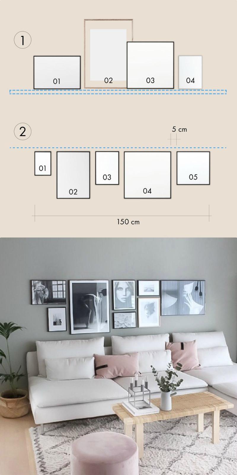 Bilder Aufhängen So Geht's Richtig  Connox Magazine von Bilder Im Wohnzimmer Aufhängen Photo