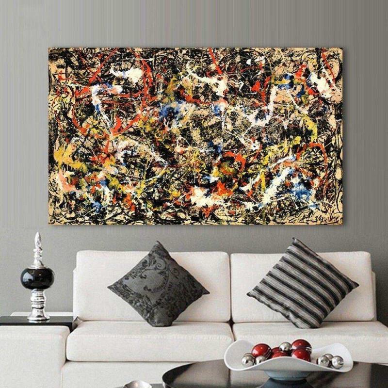 Bilder Wohnzimmer Abstrakt Elegant Jackson Pollock von Abstrakte Bilder Wohnzimmer Bild