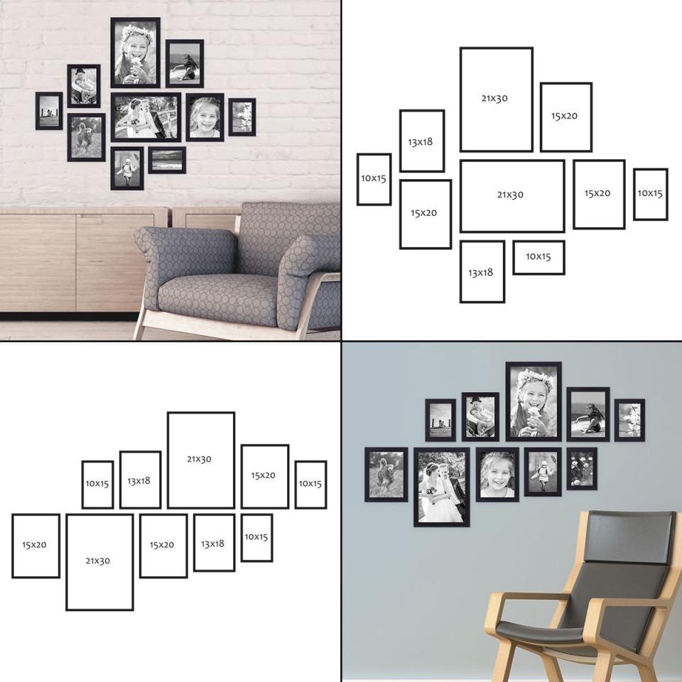 Bilderrahmen Aufhängen Mit Photolini  Photolini von Bilder Anordnen Wohnzimmer Bild