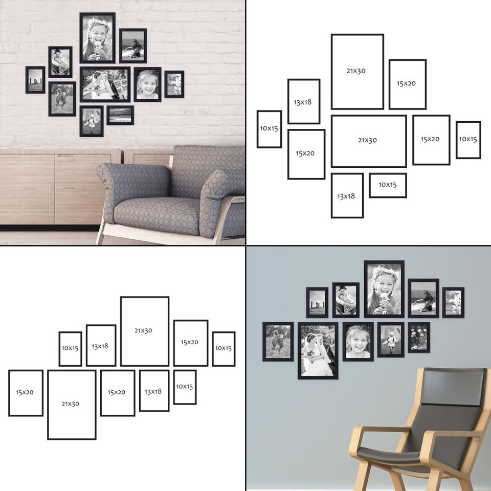Bilderrahmen Aufhängen Mit Photolini  Photolini von Bilderwand Gestalten Wohnzimmer Bild