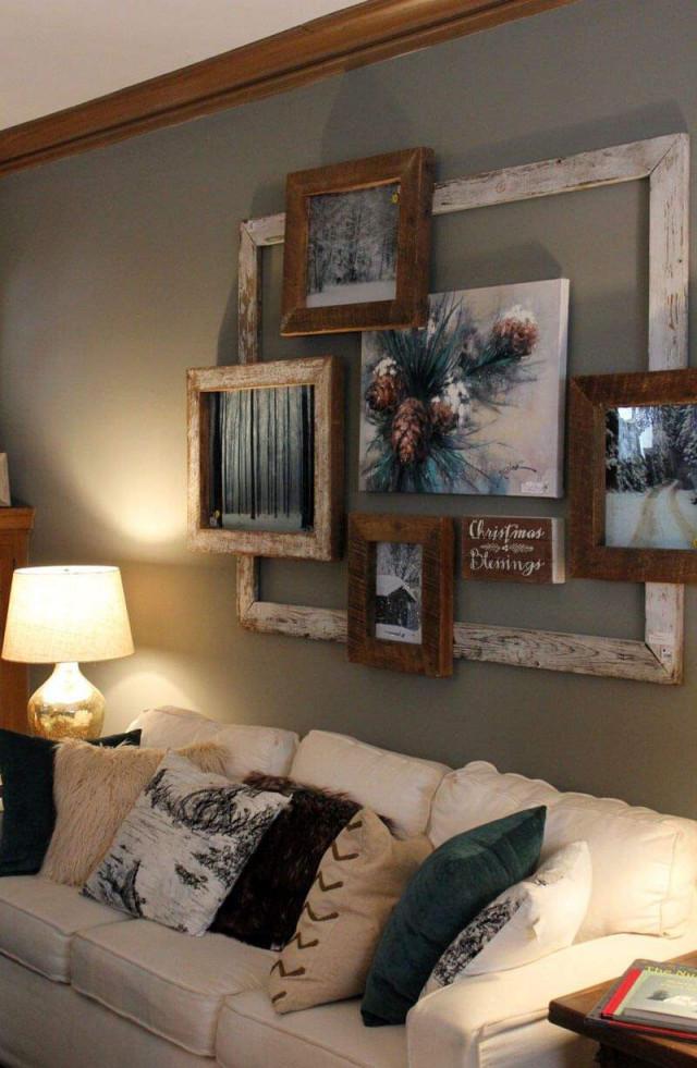 Bilderwand Wohnzimmer Reizend 30 Kreative Ideen Zum von Bilderwand Gestalten Wohnzimmer Bild