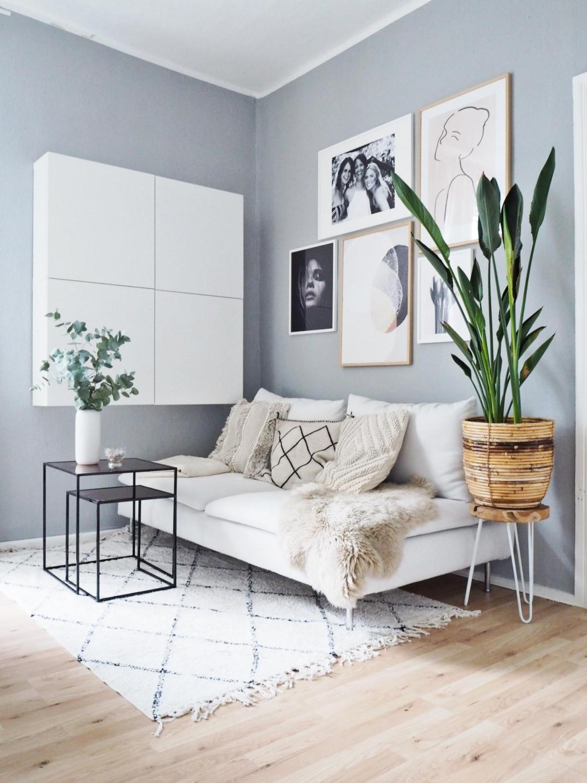 Bilderwandideen Inspiration Bei Couch von Bilderwand Wohnzimmer Ideen Bild
