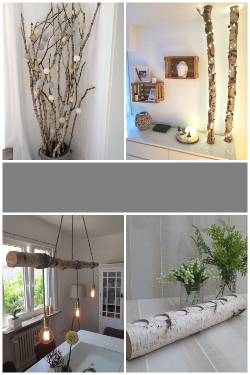 Birkenstamm Deko  Home Decor Decor Home von Baumstamm Deko Wohnzimmer Bild