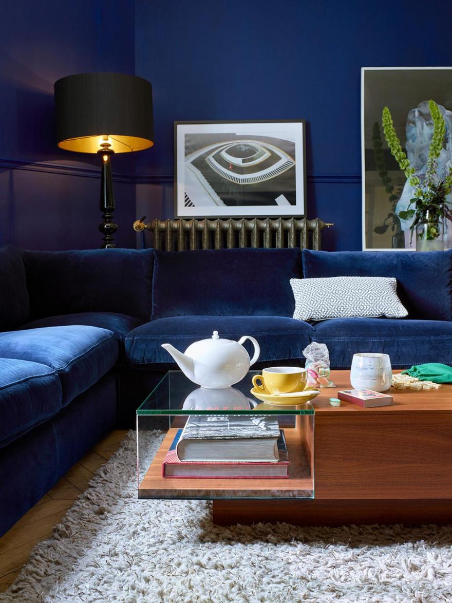 Blaues Sofa • Bilder  Ideen • Couch von Wohnzimmer Ideen Blau Photo