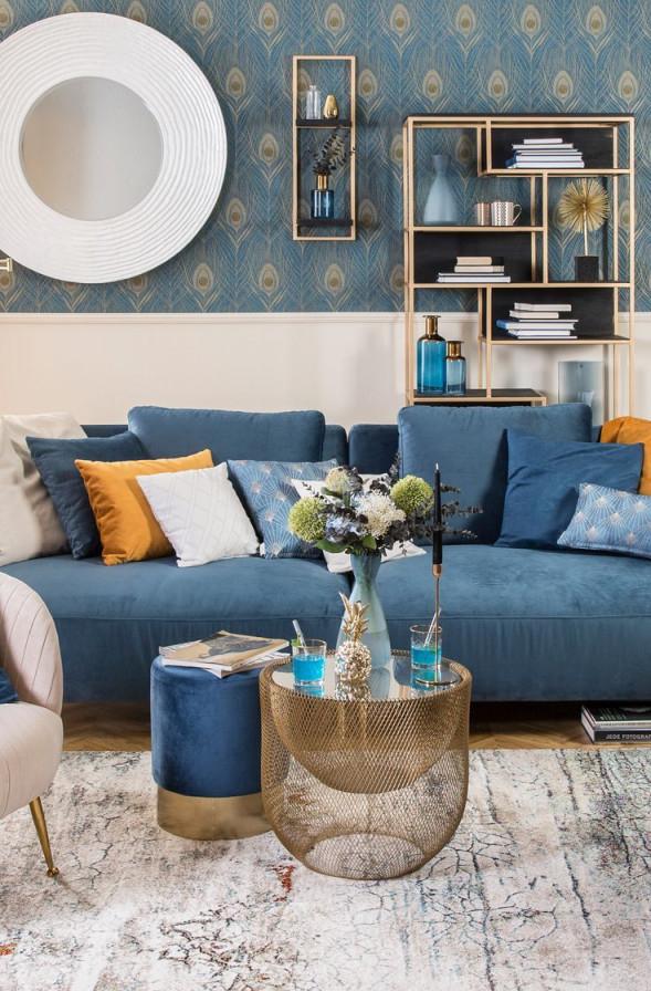 Blue Velvet  Wohnen Wohnaccessoires Wohnzimmer Farbschema von Wohnzimmer Deko Blau Photo
