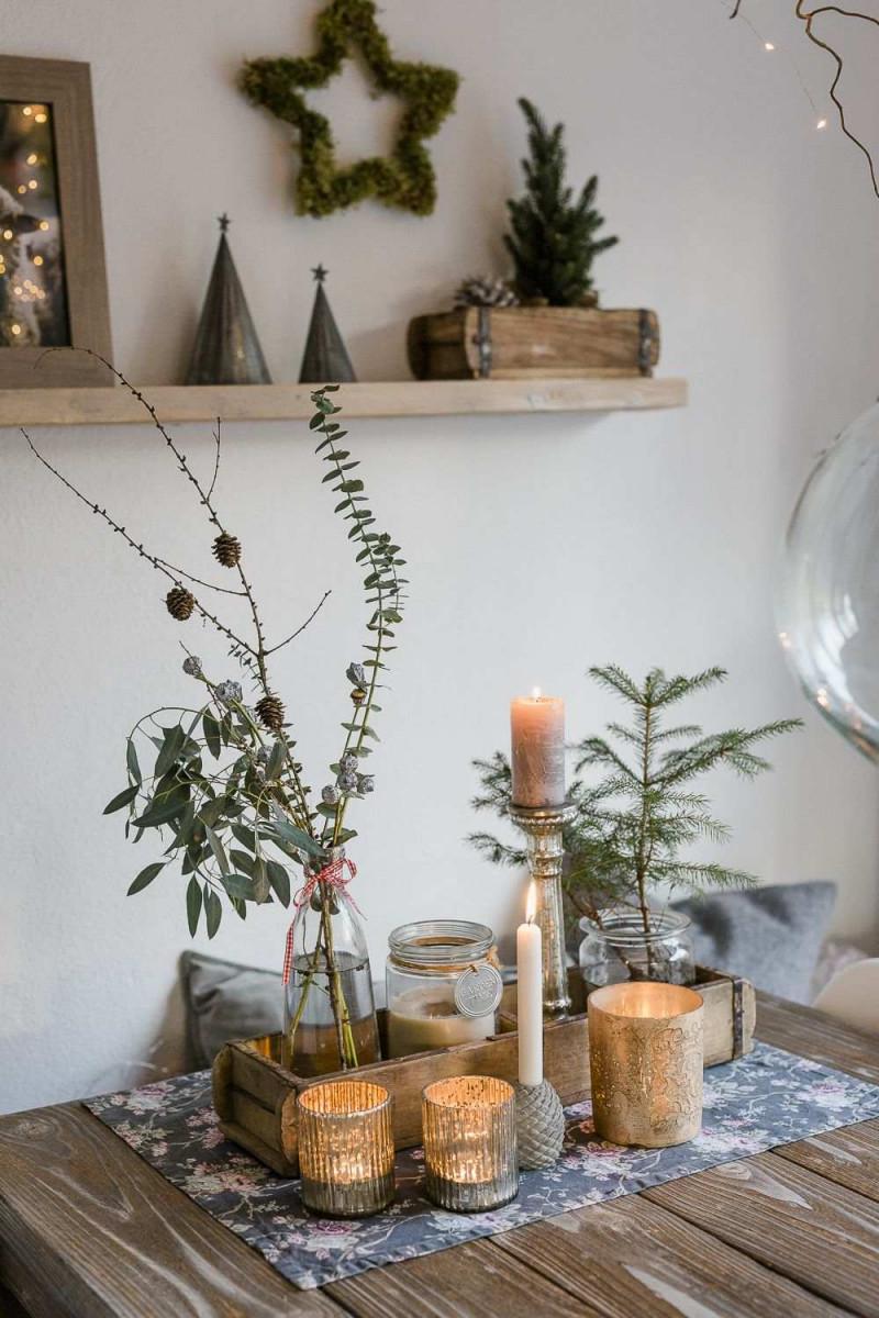 Blumen Deko Wohnzimmer Neu Weihnachtsdekoration Und Ein von Wohnzimmer Blumen Deko Photo