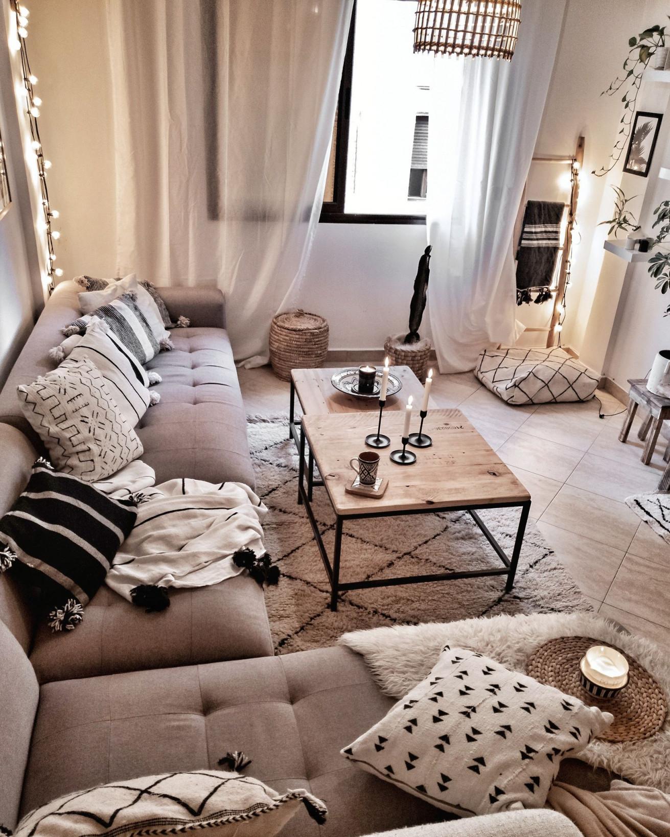 Bohochic Living  Wohnen Wohnung Wohnzimmer Wohnzimmer von Accessoires Wohnzimmer Ideen Photo