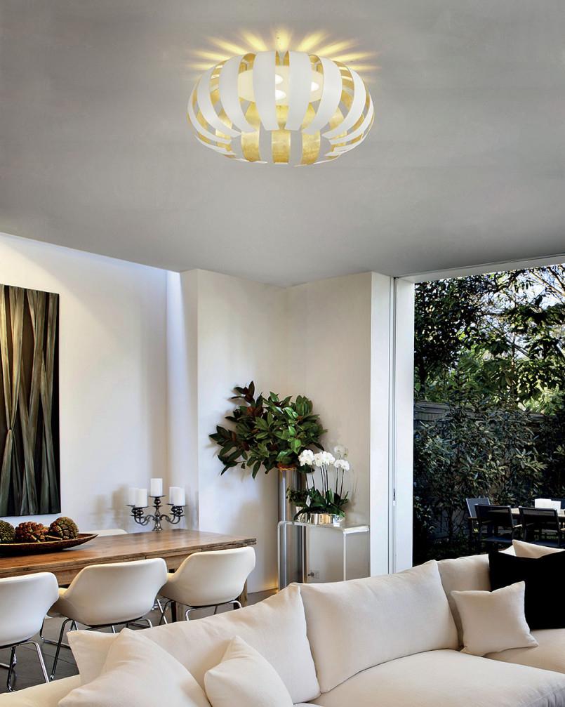 Braga Led Deckenleuchte Geo Pl60 von Deckenleuchte Wohnzimmer Gold Bild
