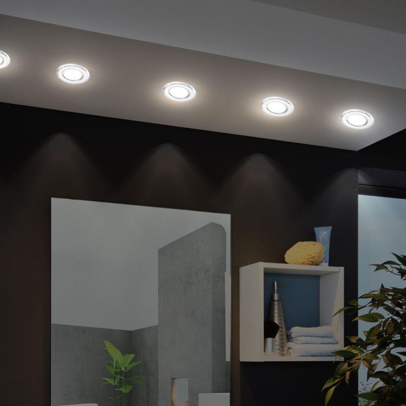 Business  Industrie Leuchten 3Er Set Wand Einbauspot Stahl von Wohnzimmer Lampe Wand Photo