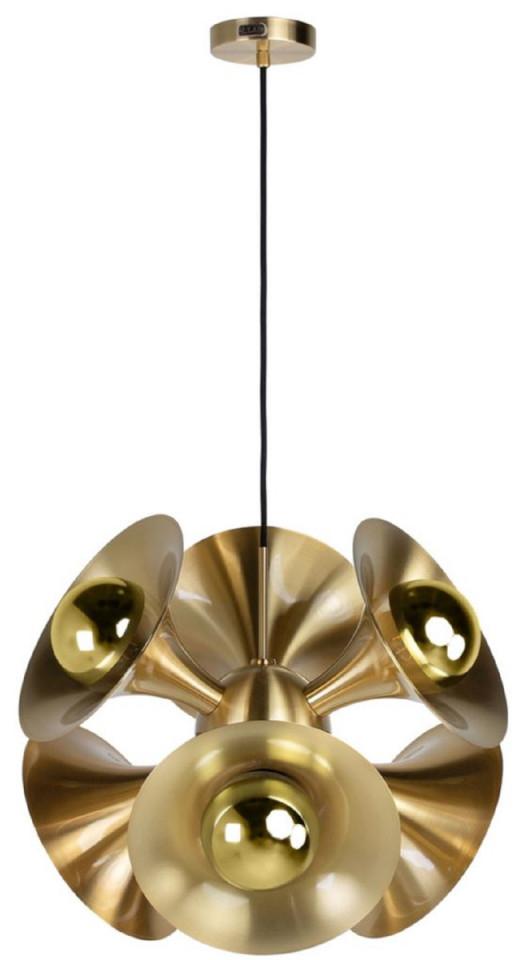 Casa Padrino Luxus Hängeleuchte Messingfarben 55 X 55 X H 53 Cm  Messing  Pendelleuchte  Wohnzimmer Lampe  Luxus Kollektion von Wohnzimmer Lampe Messing Bild