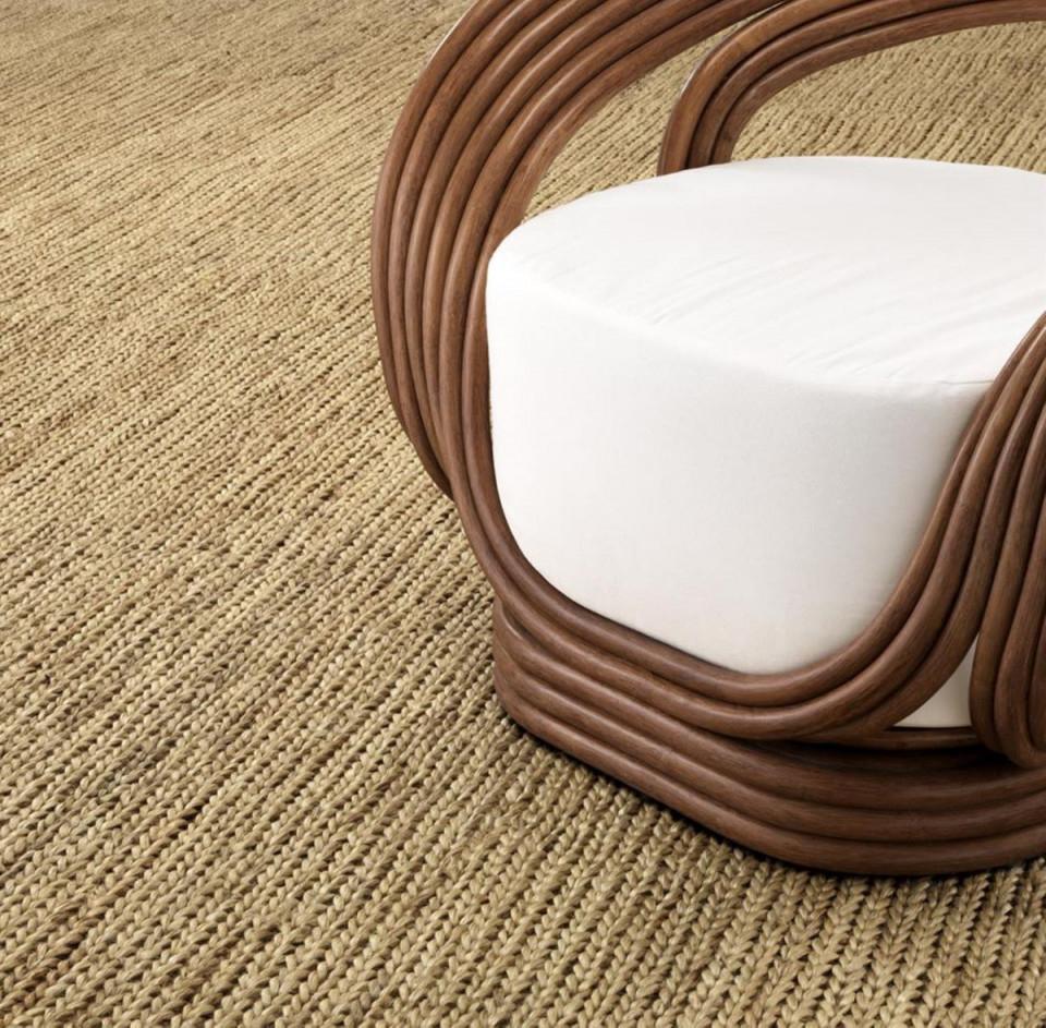 Casa Padrino Luxus Jute Teppich Naturfarben 300 X 400 Cm  Luxus Wohnzimmer  Accessoires von Wohnzimmer Teppich 300X400 Bild
