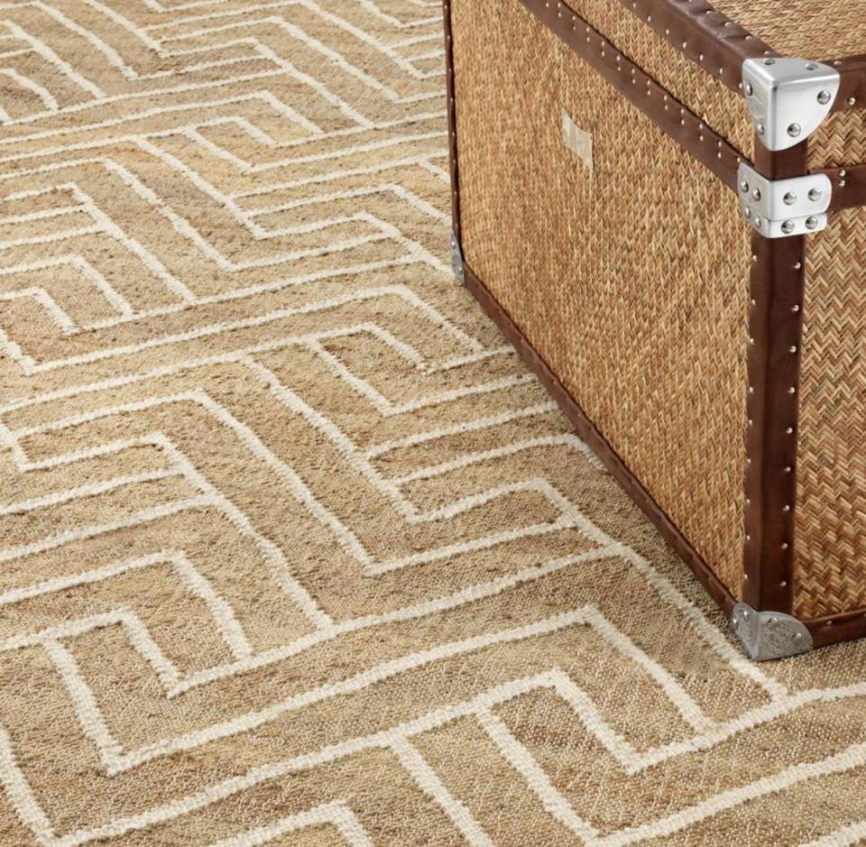 Casa Padrino Luxus Wohnzimmer Teppich Naturfarben  Weiß 300 X 400 Cm   Luxus Kollektion von Wohnzimmer Teppich 300X400 Photo