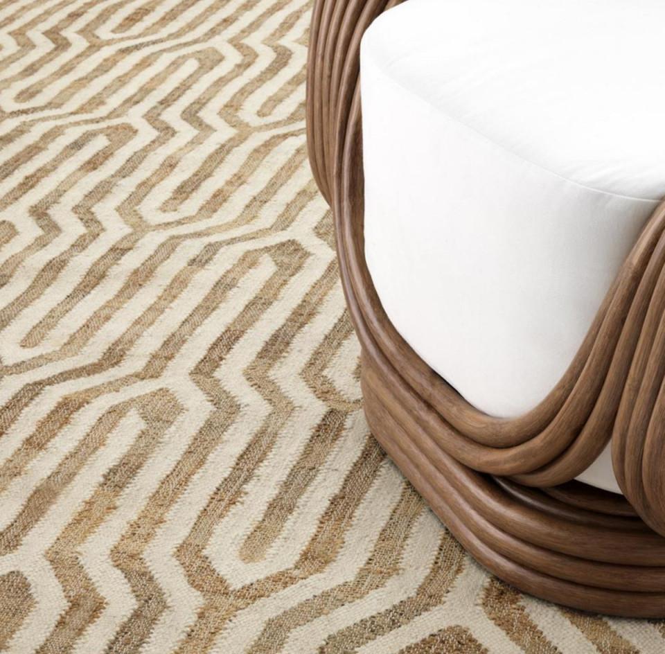 Casa Padrino Luxus Wohnzimmer Teppich Naturfarben  Weiß 300 X 400 Cm   Luxus Qualität von Wohnzimmer Teppich 300X400 Photo