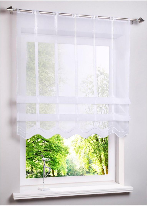 Clipstore Im Modernem Look  Weiß Lochleiste  Vorhänge von Halbe Gardinen Wohnzimmer Photo