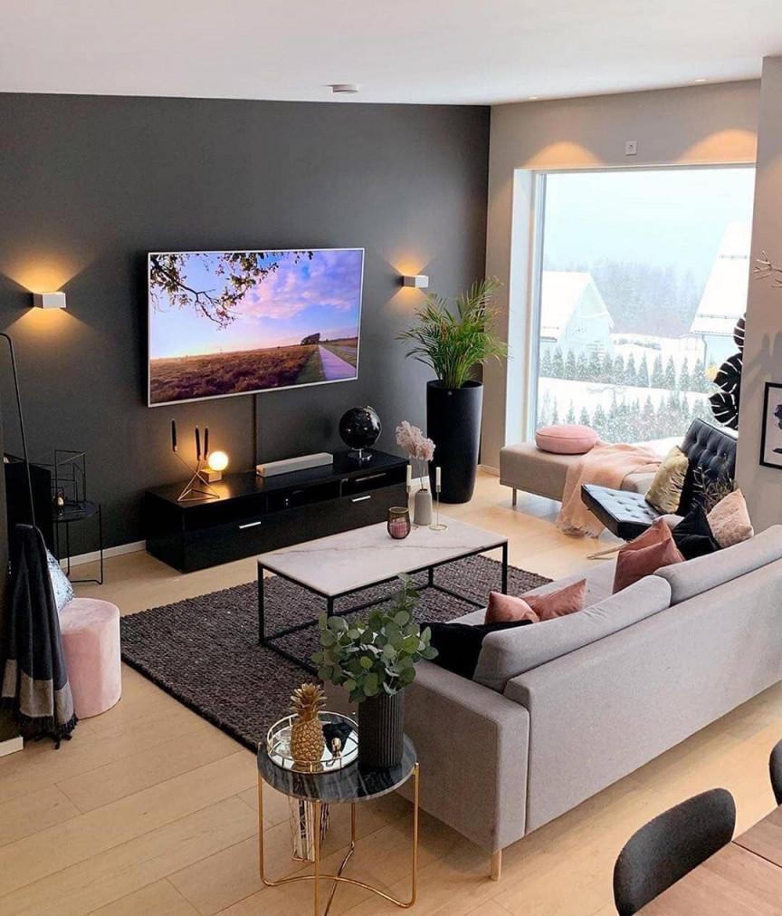 Colorful Home Decor In 2020  Simple Living Room Decor von Moderne Bilder Für Wohnzimmer Photo