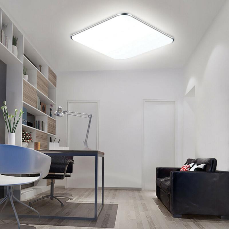 Coosnug 60W Modern Led Deckenleuchte Dimmbar Schwarz Rund von Deckenleuchte Wohnzimmer Rund Bild