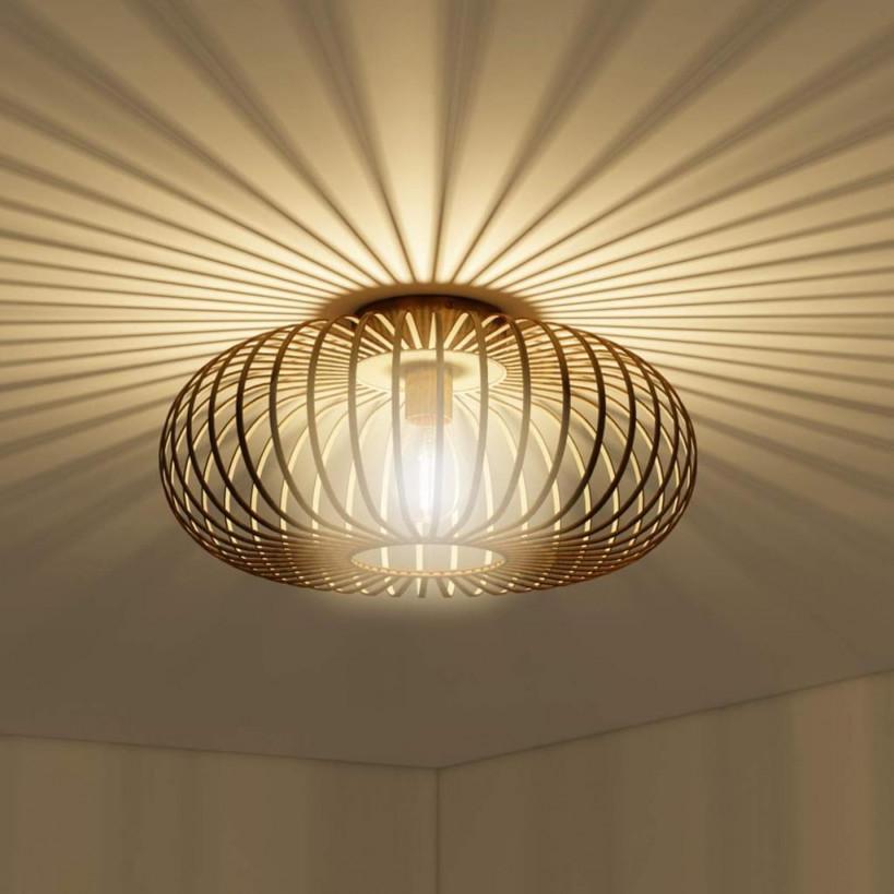 Costway Deckenleuchte Antik Deckenlampe Retro Lampe Vintage Metall Ideal  Fuer von Retro Wohnzimmer Lampe Photo