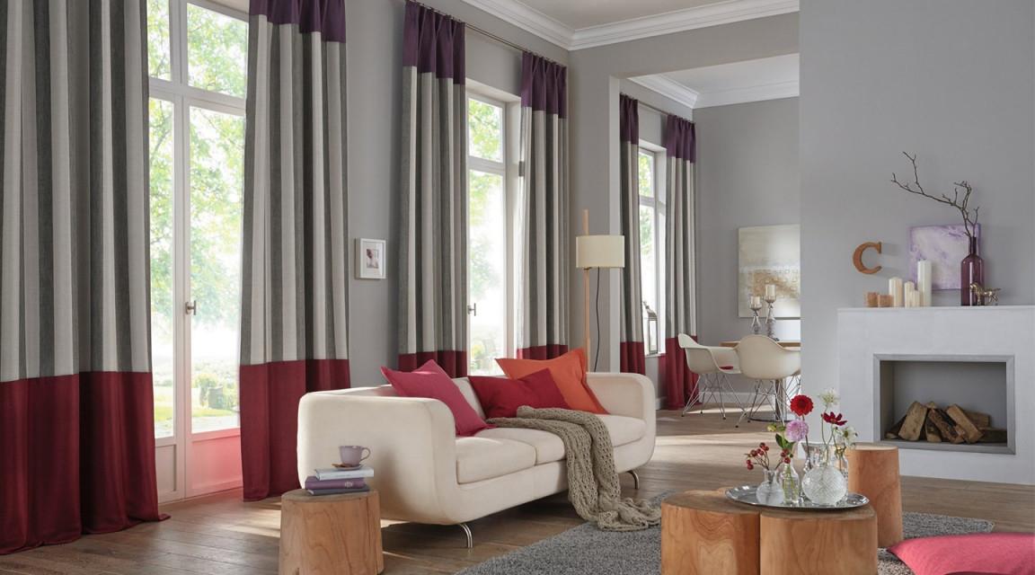 Creatives Wohnen Hamburg – Moderne Fenstergestaltung von Gardinen Für Bodentiefe Fenster Wohnzimmer Bild