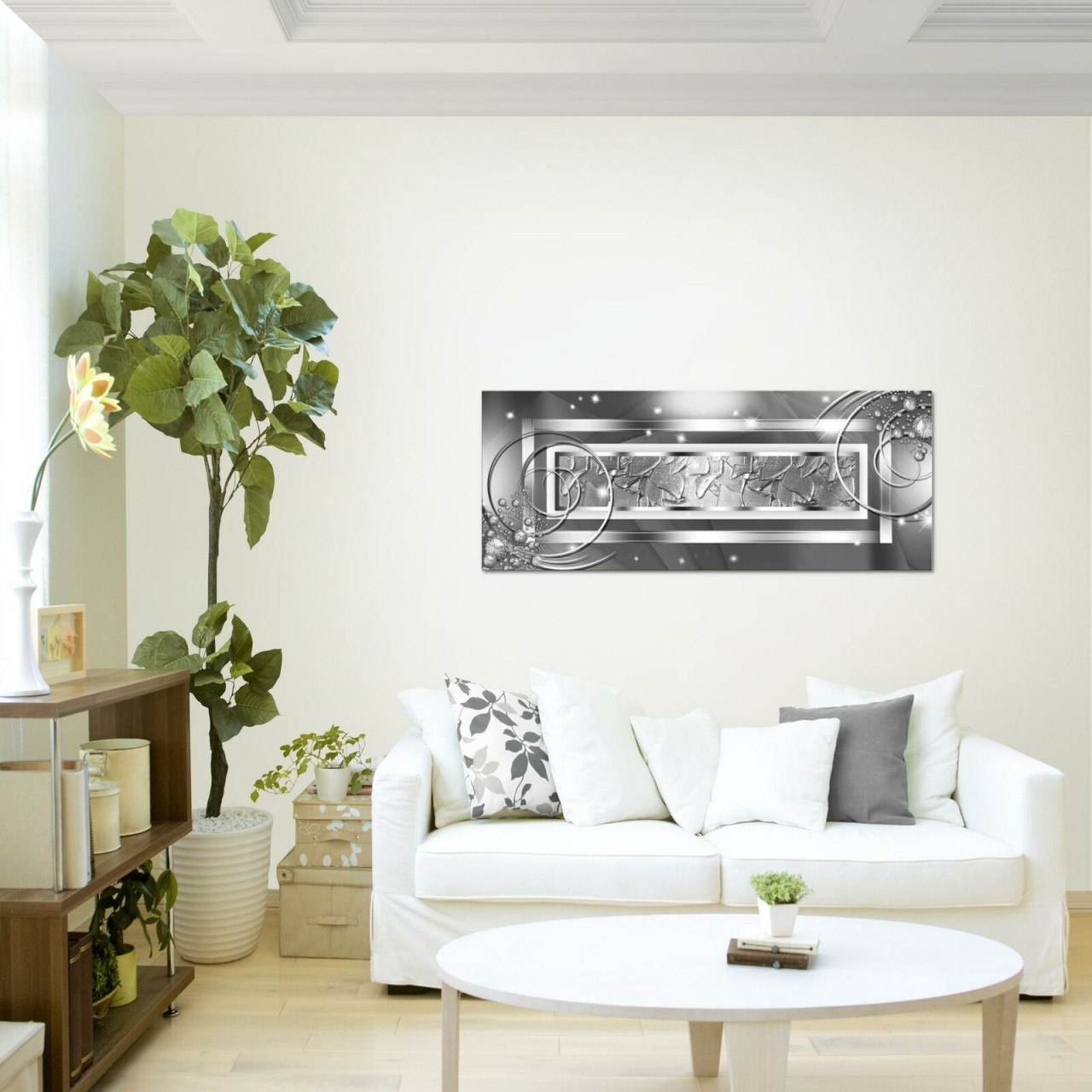 Картина Для Интерьера Wandbilder Xxl Abstrakt Wohnzimmer 100X40 Cm Modern  Bild Bilder Vlies Leinwand von Wohnzimmer Bilder Modern Bild