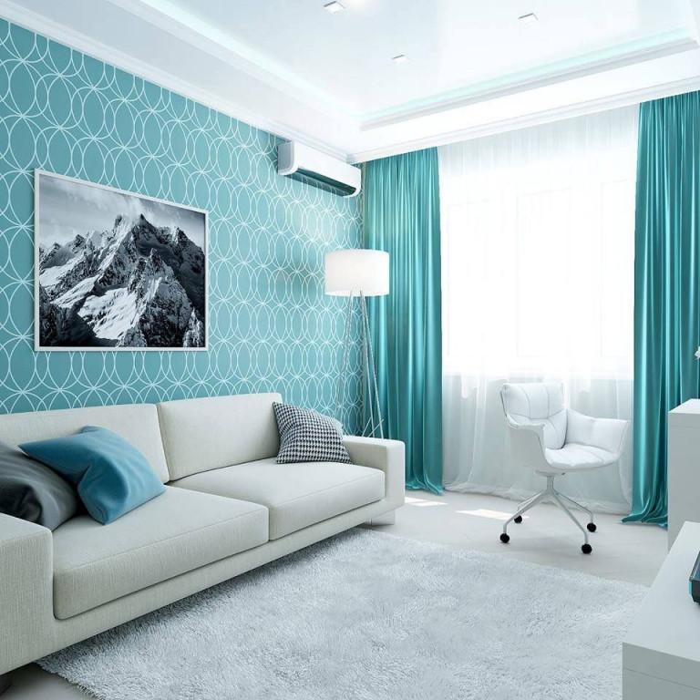 Пин От Пользователя Virginia На Доске Interior Design von Blaue Deko Wohnzimmer Photo