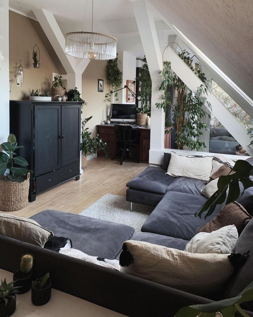 Dachgeschoss • Bilder  Ideen In 2020  Wohnung Wohnen von Wohnzimmer Ideen Dachgeschoss Bild