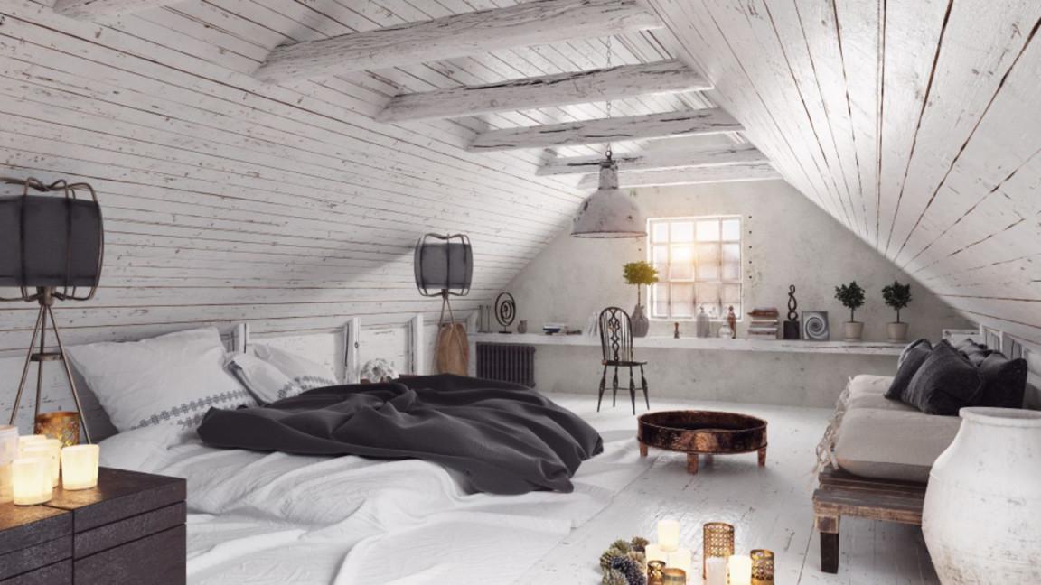 Dachschräge Einrichten  Die Schönsten Wohnideen  Brigitte von Kleines Wohnzimmer Mit Dachschräge Einrichten Bild