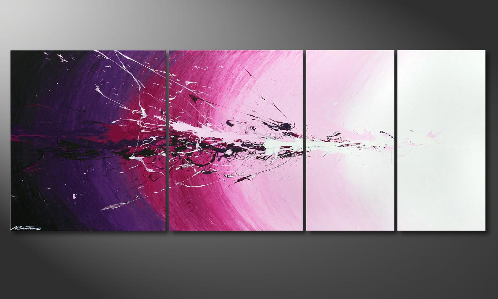 """Das Mehrteilige Wandbild """"cosmic Splash"""" 210X80X2Cm von Bilder Wohnzimmer Mehrteilig Photo"""