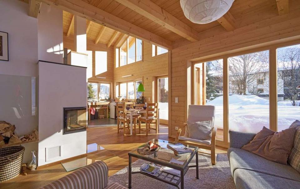 Das Wohnzimmer Gemütlich Einrichten Für Den Winter von Wohnzimmer Rustikal Einrichten Photo