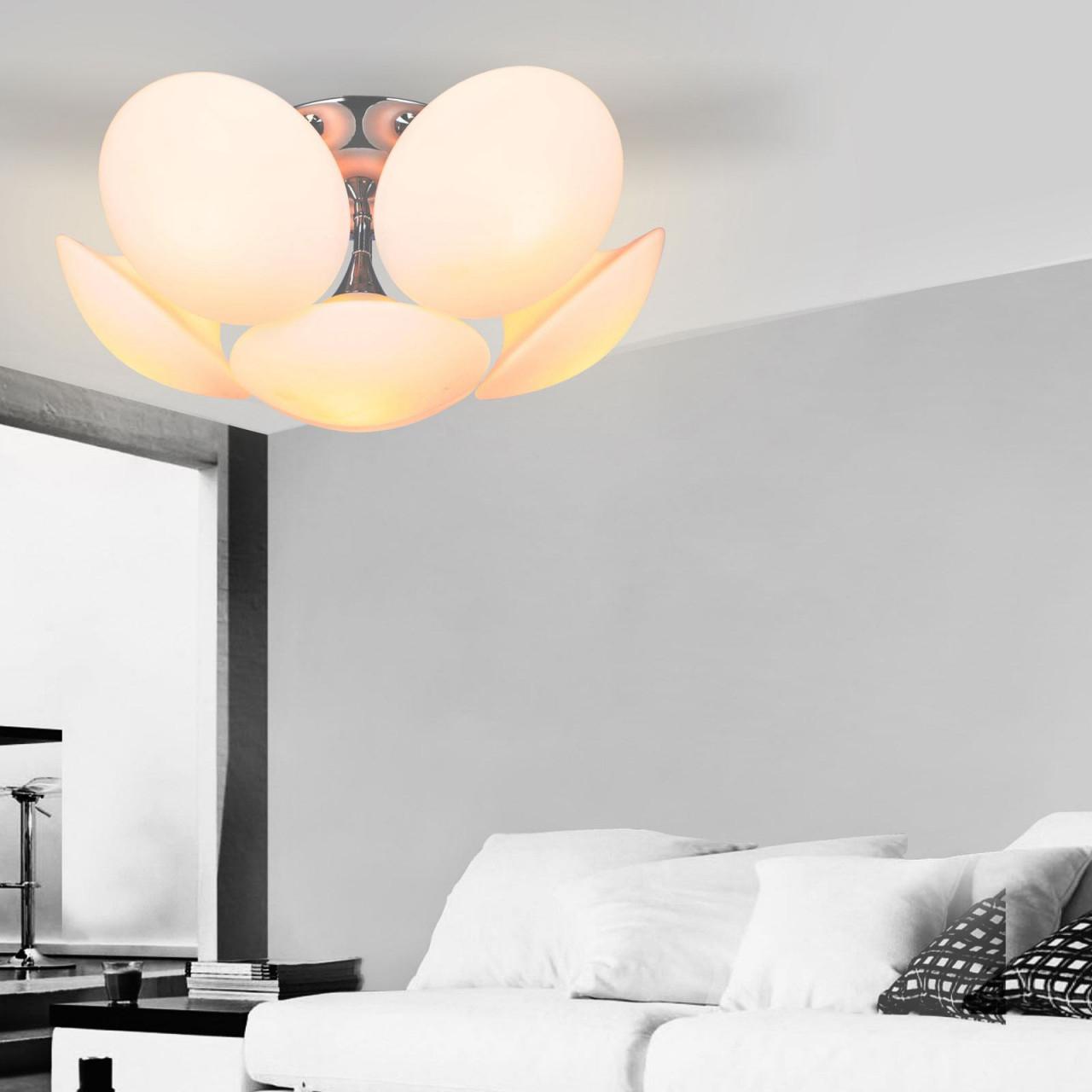 Deckenlampe Glas von Wohnzimmer Lampe Glas Photo