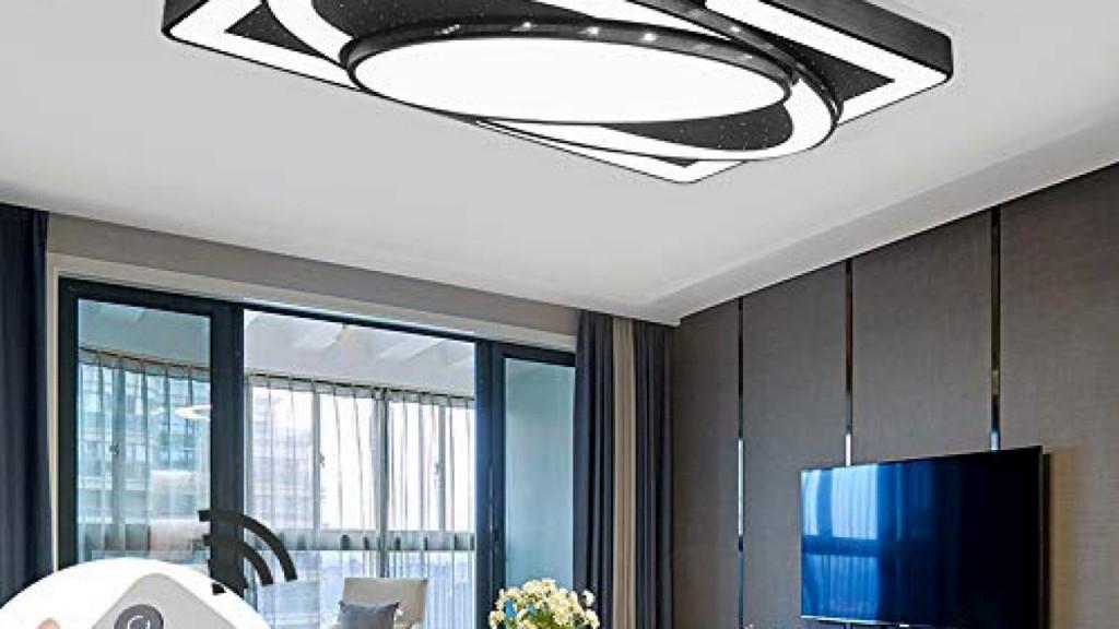 Deckenlampe Led Deckenleuchte 78W Wohnzimmer Lampe Modern von Deckenleuchte Wohnzimmer Schwarz Photo