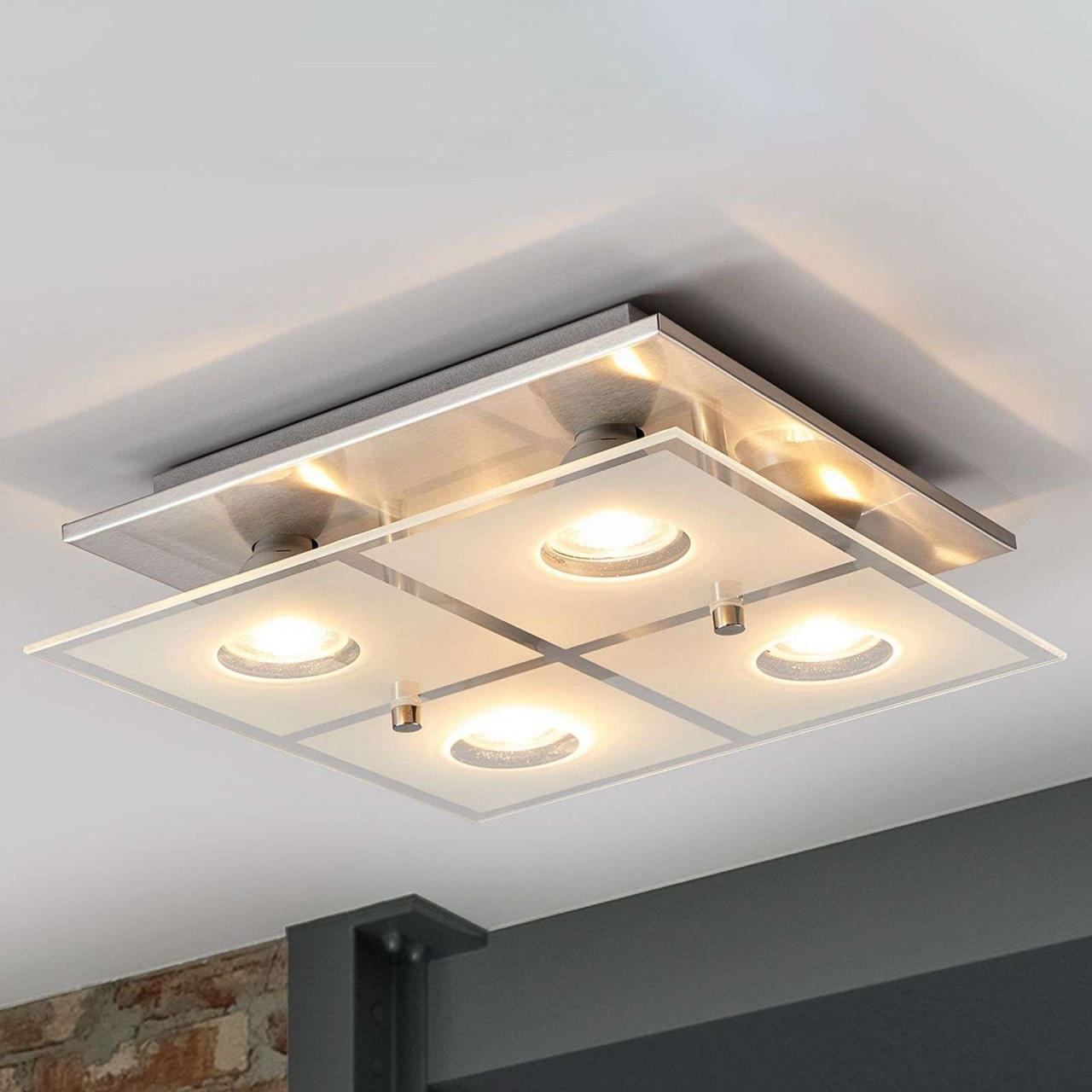 Deckenlampen Büro Günstig  Helle Deckenleuchte Wohnzimmer von Wohnzimmer Lampe Hell Bild