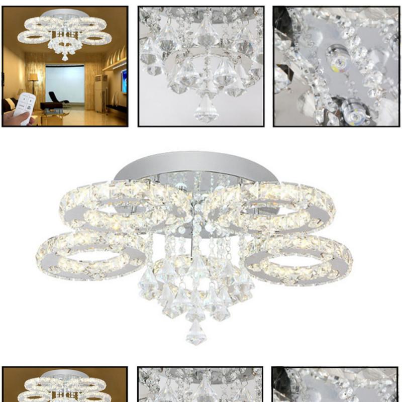 Deckenlampen  Kronleuchter Möbel  Wohnen Kristall 76W Led von Deckenleuchte Wohnzimmer Kristall Photo