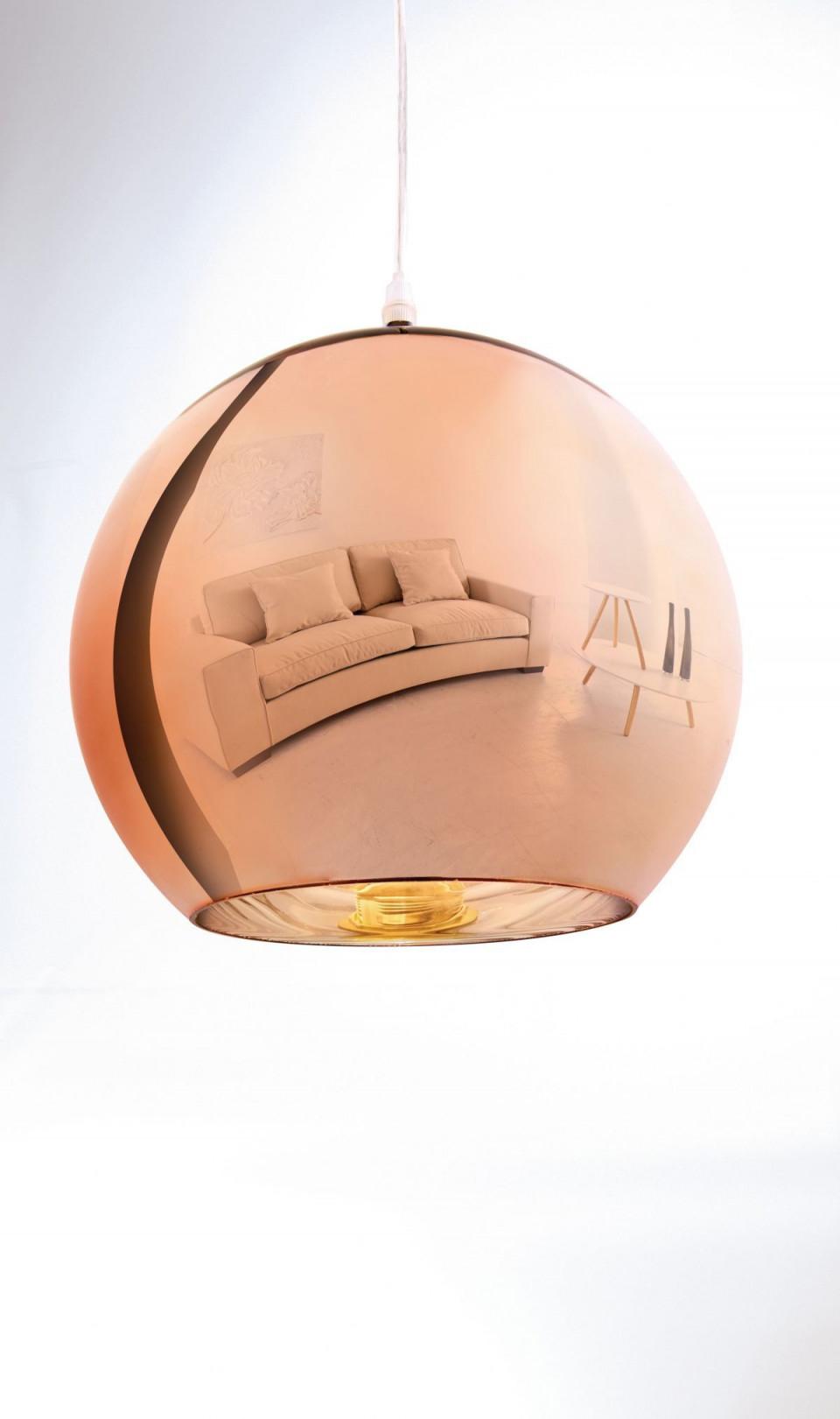 Deckenleuchte Kupfer Metall Und Glas Jetzt Bestellen Unter von Kupfer Lampe Wohnzimmer Photo
