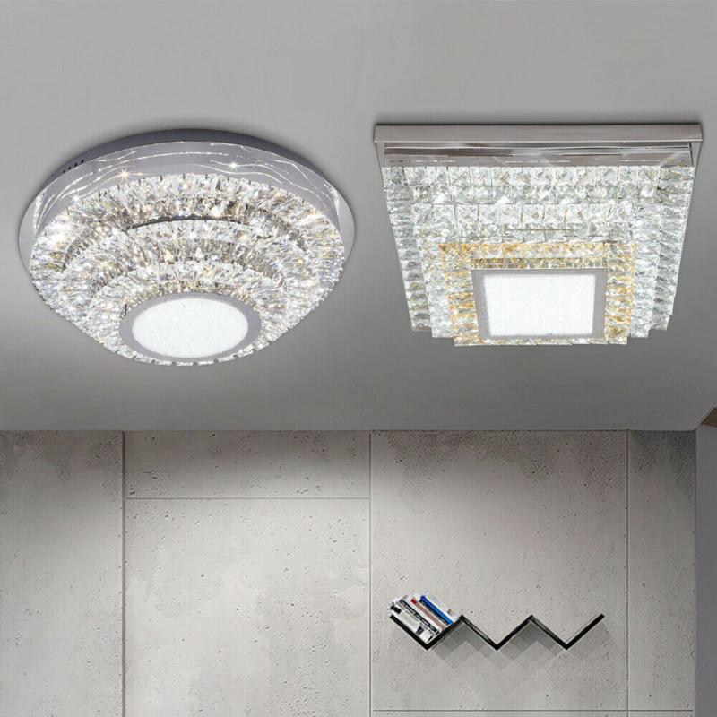 Deckenleuchten Büro  Schreibwaren Led Xl 62Cm Kristall von Deckenleuchte Wohnzimmer Kristall Photo