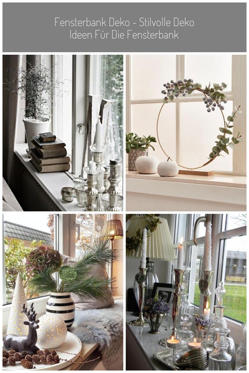 Deko Ideen Fensterbank Stilvoll Kerzen Bücher Pflanze von Deko Ideen Fensterbank Wohnzimmer Photo