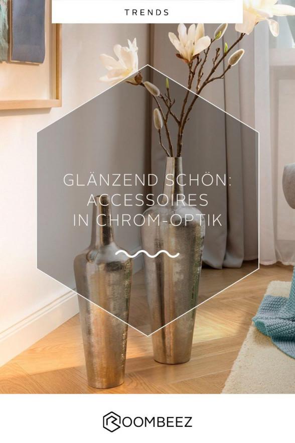 Deko In Chrom  Accessoires Und Inspiration  Inspiration von Chrom Deko Wohnzimmer Bild