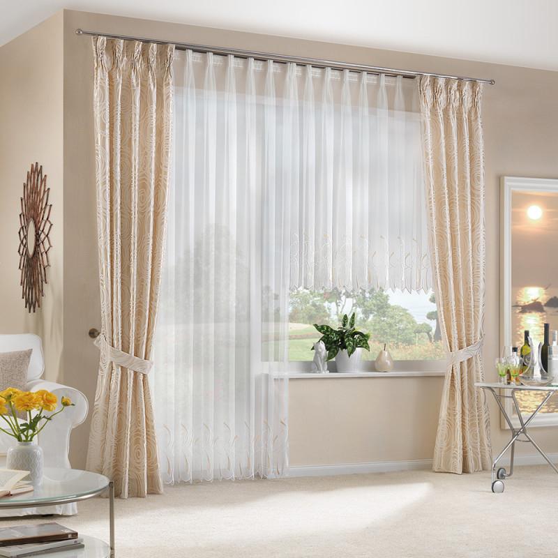 Deko Und Gardine Für Ihre Wohnzimmer von Wohnzimmer Mit Gardinen Bild