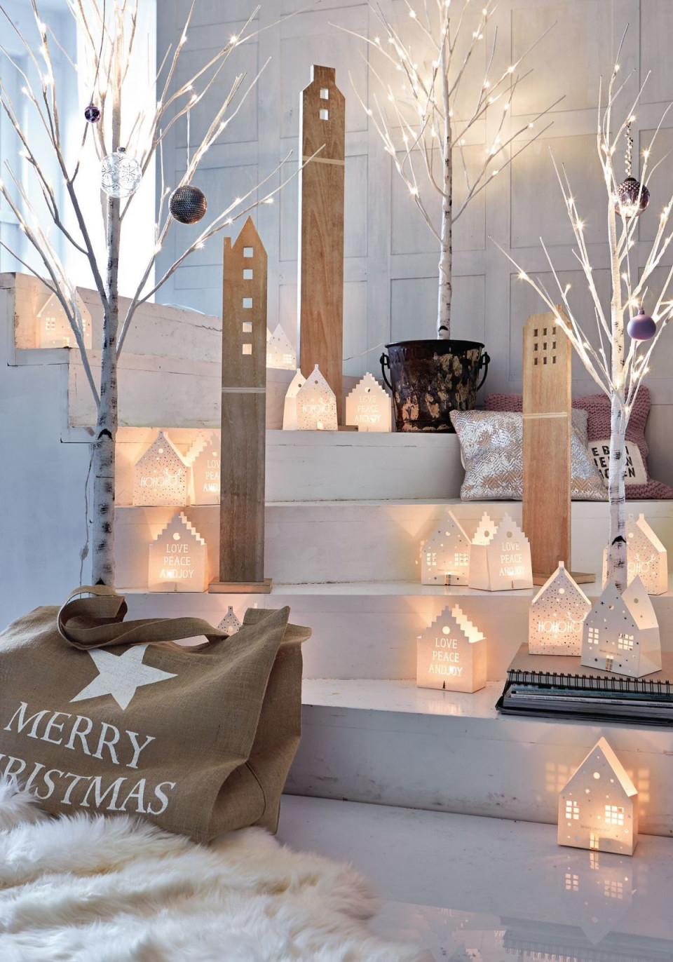 Dekohausset 3Tlg Weiß Gewischt Mit von Deko Set Wohnzimmer Bild