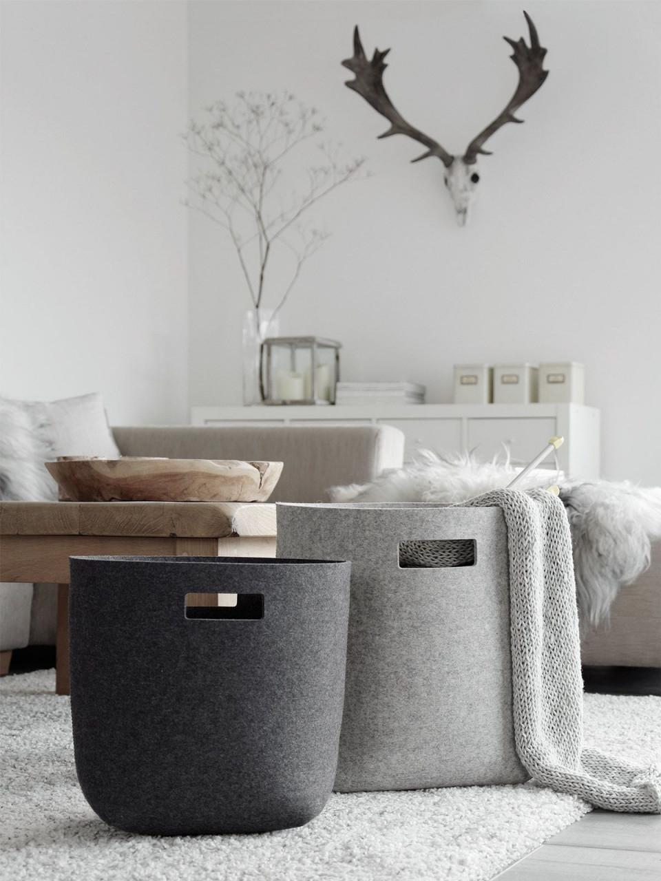 Dekoration  Aufbewahrung Wohnzimmer Wohnen Und Haus Zubehör von Korb Deko Wohnzimmer Bild