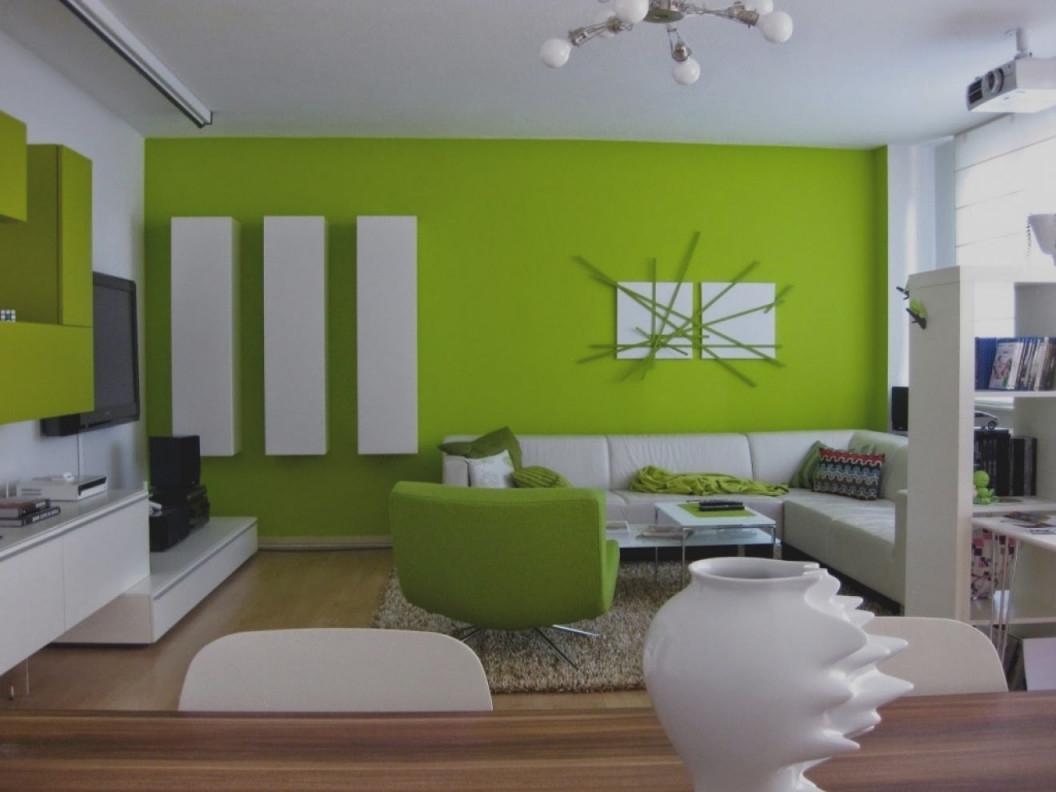 Dekoration Wohnzimmer Grün  Wandgestaltung Wohnzimmer von Deko Wohnzimmer Grün Photo