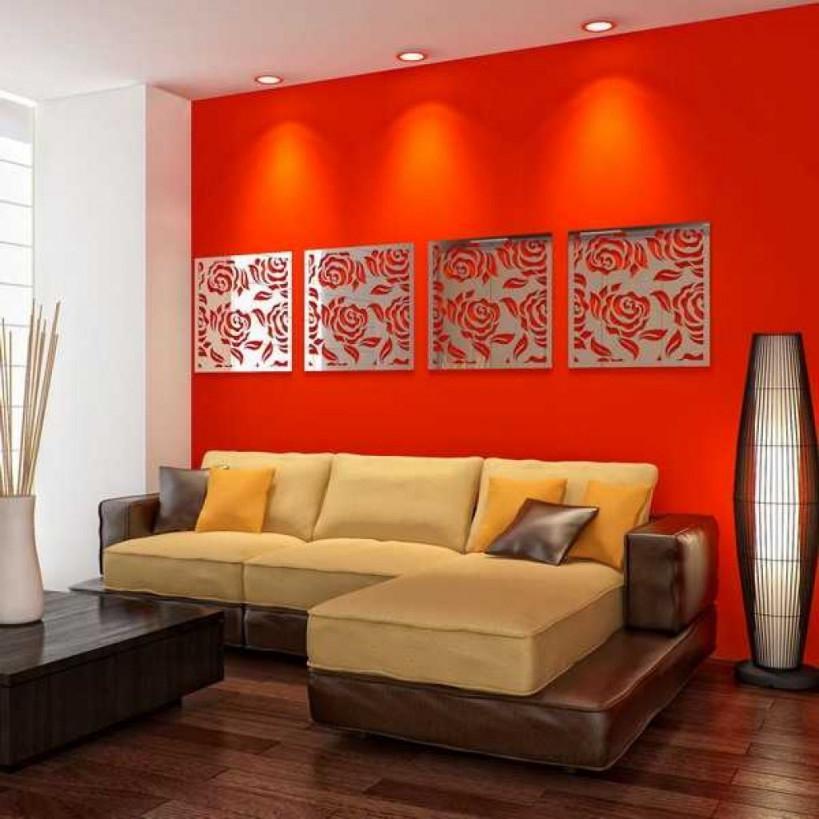 Dekorative Wohnzimmer Wand Spiegel Wohnung  Accent Walls von Dekorative Bilder Wohnzimmer Bild