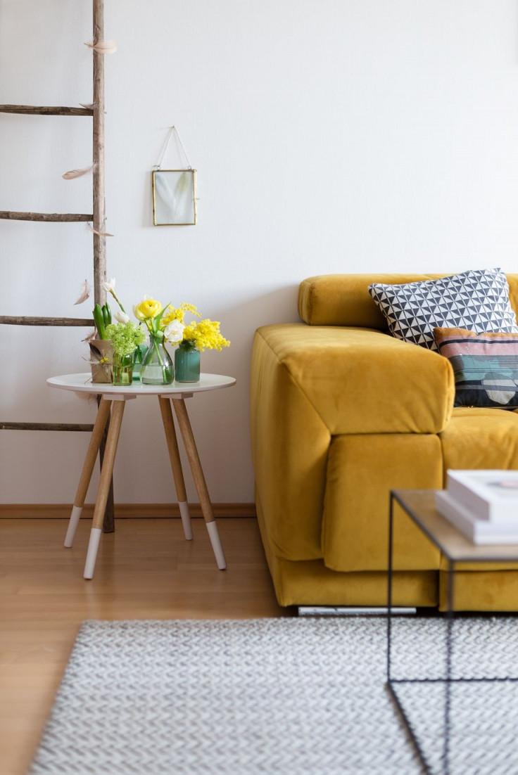 Dekorieren Mit Gelb  Kontrastfarben Gegen Langeweile I von Deko Gelb Wohnzimmer Photo