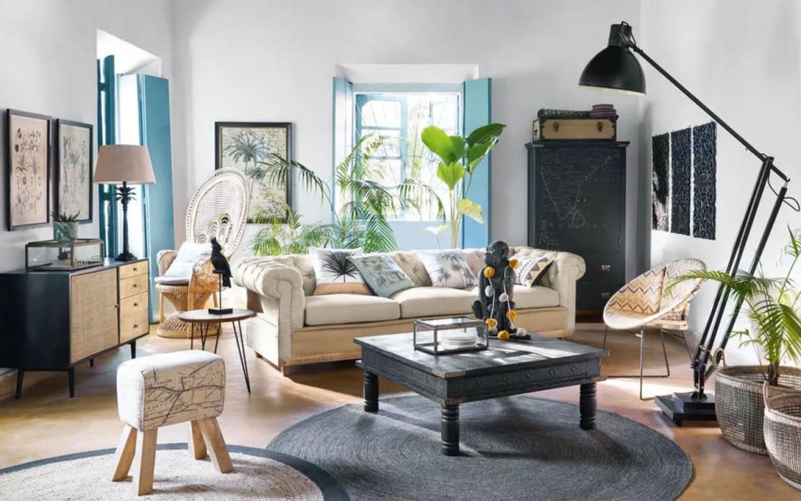 Der Kolonialstil  Gemütlich Rustikal  Sehr Relaxt von Deko Rustikal Wohnzimmer Bild